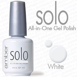 Solo All-in-One Gel Polish - No Base or Top Coat Needed - LED or UV Cured - 0.5 oz. White (S521)