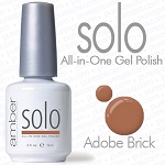 Solo All-in-One Gel Polish - No Base or Top Coat Needed - LED or UV Cured - 0.5 oz. Adobe Brick (S531)