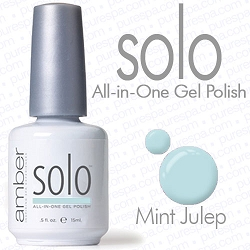 Solo All-in-One Gel Polish - No Base or Top Coat Needed - LED or UV Cured - 0.5 oz. Mint Julep (S601)