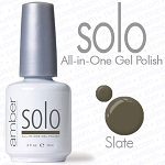 Solo All-in-One Gel Polish - No Base or Top Coat Needed - LED or UV Cured - 0.5 oz. Slate (S603)