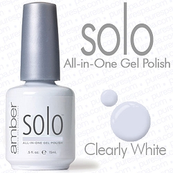 Solo All-in-One Gel Polish - No Base or Top Coat Needed - LED or UV Cured - 0.5 oz. Clearly White (S607)