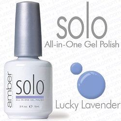 Solo All-in-One Gel Polish - No Base or Top Coat Needed - LED or UV Cured - 0.5 oz. Lucky Lavender (S609)