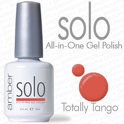 Solo All-in-One Gel Polish - No Base or Top Coat Needed - LED or UV Cured - 0.5 oz. Totally Tango (S613)