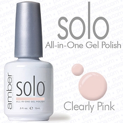 Solo All-in-One Gel Polish - No Base or Top Coat Needed - LED or UV Cured - 0.5 oz. Clearly Pink (S614)