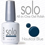 Solo All-in-One Gel Polish - No Base or Top Coat Needed - LED or UV Cured - 0.5 oz. Nautical Blue (S620)