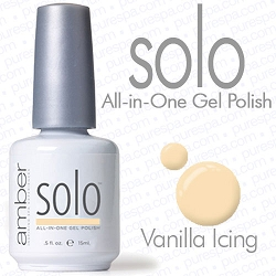 Solo All-in-One Gel Polish - No Base or Top Coat Needed - LED or UV Cured - 0.5 oz. Vanilla Icing (S621)