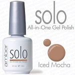 Solo All-in-One Gel Polish - No Base or Top Coat Needed - LED or UV Cured - 0.5 oz. Iced Mocha (S625)