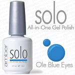 Solo All-in-One Gel Polish - No Base or Top Coat Needed - LED or UV Cured - 0.5 oz. Ole Blue Eyes (S630)