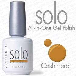 Solo All-in-One Gel Polish - No Base or Top Coat Needed - LED or UV Cured - 0.5 oz. Cashmere (S639)