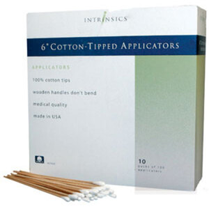 "Intrinsics 6"" Cotton Tip Wooden Applicators 1000 Count (INT407480)"
