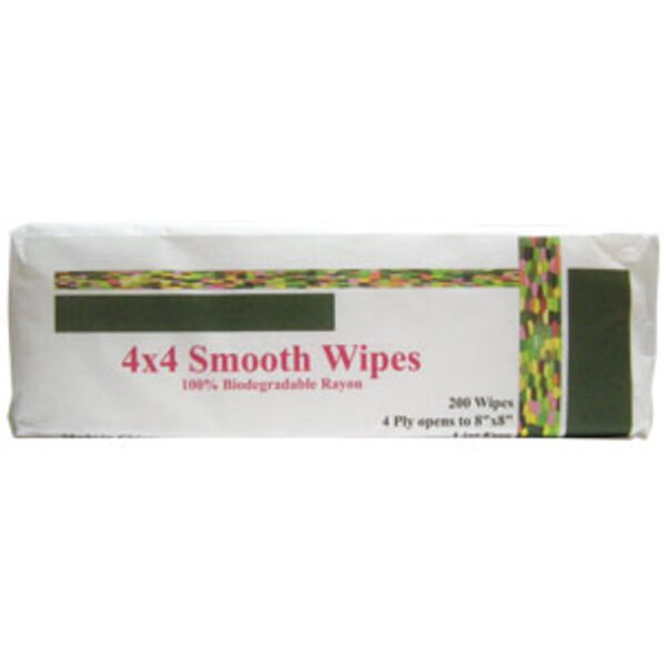 Bio-Degradable 4x4 Wipes 200 Pack (NR1220)