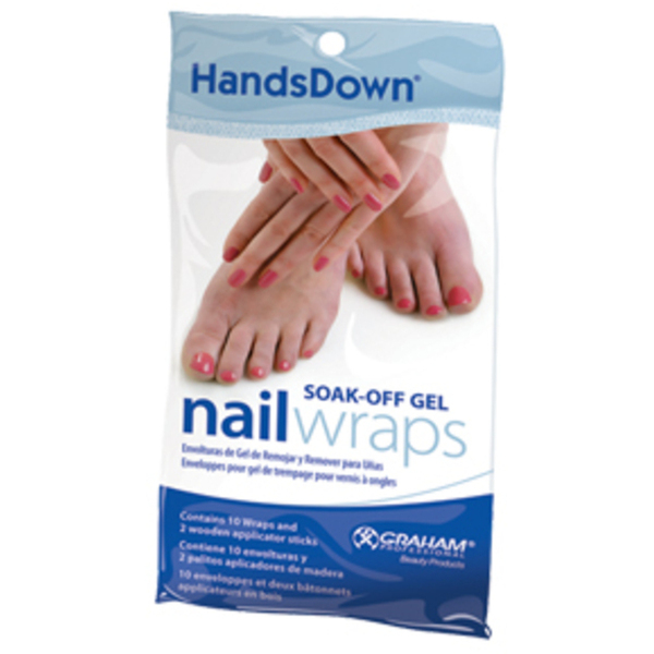 Hands Down Nail Wraps 10 Pack (GP60663)