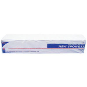 "Hi-Absorbency Non-Woven New Sponge - 2""x2"" x 4 Ply 200 Count per Sleeve Case of 40 Sleeves (DK6112-40PK-CASE)"