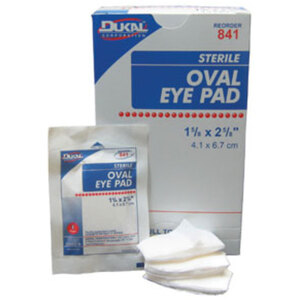 Sterile Eye Pads Box of 50 Case of 12 Boxes (DK841-12BOX-CASE)