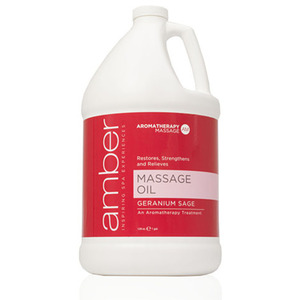 Massage Oil - Geranium Sage 128 oz. (527-GS)