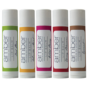 Lip Balm - 5 Pack 1 of Each - Vanilla Mint + Wild Berry + Iced Pear + Coconut + Cherry Blossom (LB160)