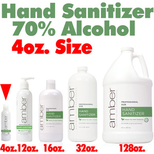 Amber Professional Green Tea Mint Hand Sanitizer - 70% Alcohol 4 oz. (HS04)