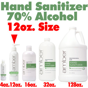 Amber Professional Green Tea Mint Hand Sanitizer - 70% Alcohol 12 oz. (HS012)