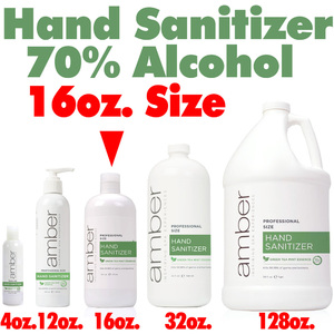 Amber Professional Green Tea Mint Hand Sanitizer - 70% Alcohol 16 oz. (HS016)
