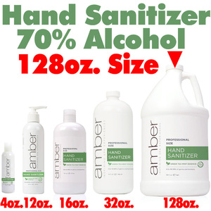 Amber Professional Green Tea Mint Hand Sanitizer - 70% Alcohol 128 oz. - 1 Gallon (HS0128)