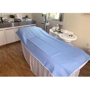 "Vinyl / Rubber Treatment Table Barrier - Easy to Clean and Sanitize Light Blue Color - 36""X 76"" (166LB)"