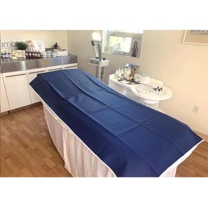 "Vinyl / Rubber Treatment Table Barrier - Easy to Clean and Sanitize Navy Blue Color - 36""X 76"" (166NB)"