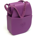 Salvatos - Portable Foldable Packable Flip-Flops - Grapy | Purple Strap + Purple Sole Case of 20 Pairs - 5 Small + 10 Medium + 5 Large (SS17FF006)