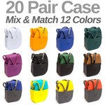 Salvatos - Portable Foldable Packable Flip-Flops - Mixed Color Case of 20 Pairs - 5 Small + 10 Medium + 5 Large (MIXED PACK)