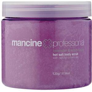 Mancine Hot Salt Body Scrub - Lavender & Witch-Hazel 18.34 oz. - 520 Grams