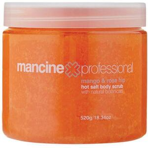 Mancine Hot Salt Body Scrub - Mango & Rose Hip 18.34 oz. - 520 Grams