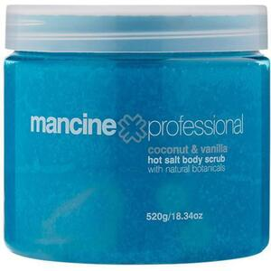 Mancine Hot Salt Body Scrub - Coconut & Vanilla 18.34 oz. - 520 Grams