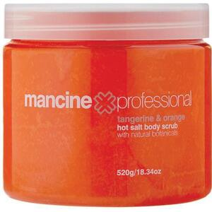 Mancine Hot Salt Body Scrub - Tangerine & Orange 18.34 oz. - 520 Grams
