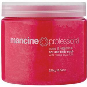 Mancine Hot Salt Body Scrub - Rose & Vitamin E 18.34 oz. - 520 Grams