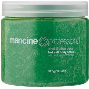 Mancine Hot Salt Body Scrub - Kiwi & Aloe 18.34 oz. - 520 Grams