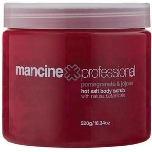 Mancine Hot Salt Body Scrub - Pomegranate & Jojoba 18.34 oz. - 520 Grams