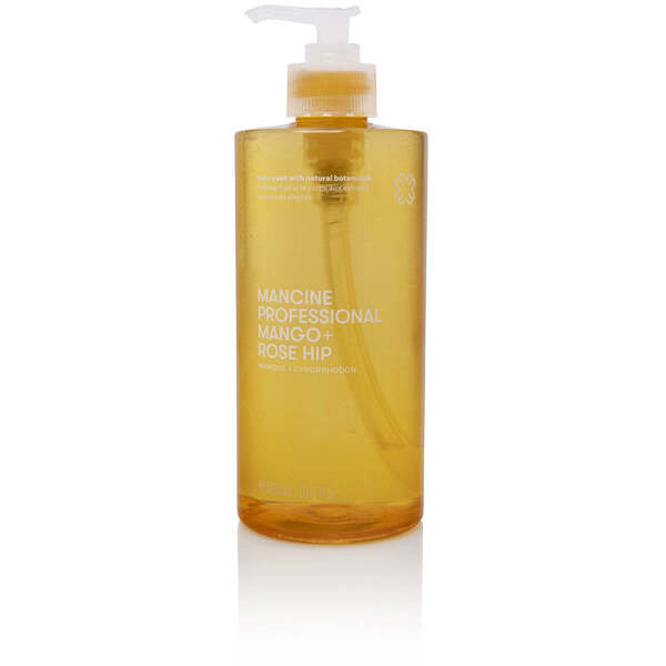 Mancine Body Wash - Mango & Rose Hip 12.7 oz. - 375 mL.