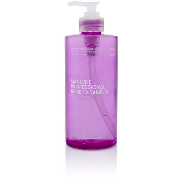 Mancine Body Wash - Rose & Vitamin E 12.7 oz. - 375 mL.