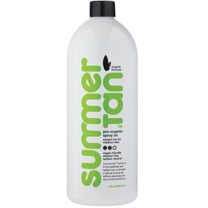 Summer Tan Organic Spray-On Tan - MEDIUM - 2 Hour Wash & Wear Formula 33.8 fl. Oz. - 1 Liter