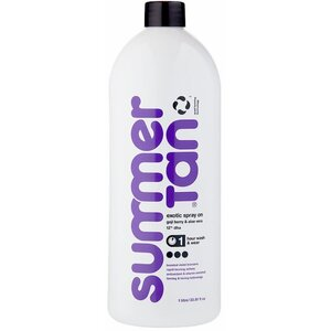 Summer Tan Violet Exotic Spray-On Tan - Goji Berry & Aloe - 1 Hour Wash & Wear Formula - 12% DHA 33.8 fl. Oz. - 1 Liter