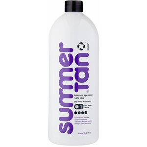 Summer Tan Violet Intense Spray-On Tan - Goji Berry & Aloe - 1 Hour Wash & Wear Formula - 14% DHA 33.8 fl. Oz. - 1 Liter