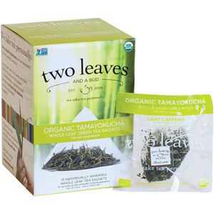 Organic Tamayokucha Tea - Whole Leaf Green Tea Sachets Case of 6 Boxes of 15 Sachets = 90 Sachets Total