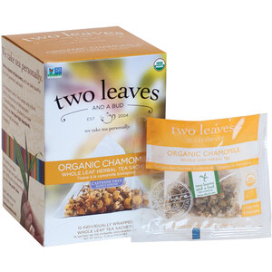 Organic Chamomile Tea - Whole Leaf Herbal Tea Sachets Case of 6 Boxes of 15 Sachets = 90 Sachets Total