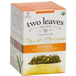Organic Energize Tea - Green Tea for Endurance Case of 6 Boxes of 15 Sachets = 90 Sachets Total