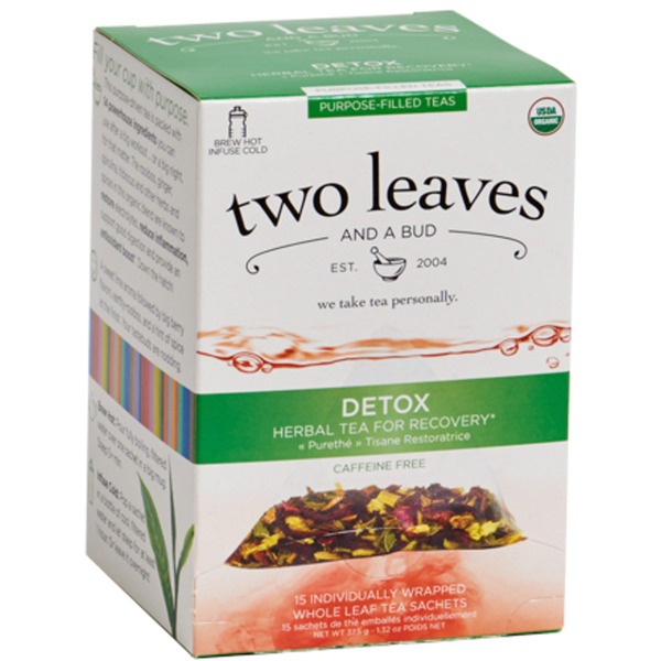 Organic Detox Tea - Herbal Tea for Recovery Case of 6 Boxes of 15 Sachets = 90 Sachets Total