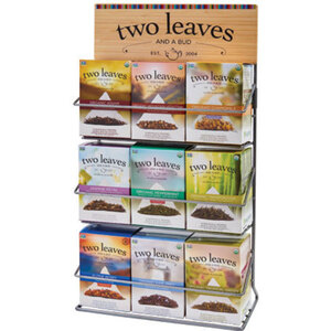 Counter Top Rack for 9 Types of Tea - - FILLED with 9 Boxes - 135 Sachets