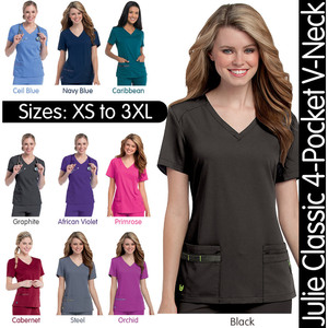 Urbane Ultimate - Women's Julie Classic 4-Pocket V-Neck Top