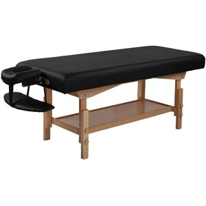 "Stationary Massage Table | Black - 30"" Width 