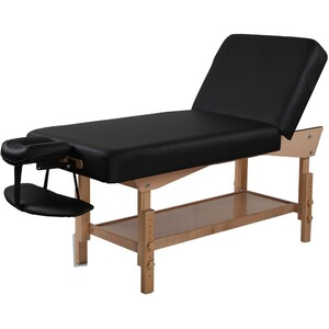 "Adjustable Backrest Stationary Massage Table | Black - 30"" Width 