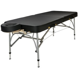 "Sport Portable Massage Table | Black Sky Blue or Charcoal - 30"" Width 