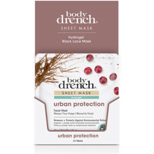 Body Drench Black Lace Hydrogel Urban Protection Sheet Masks 24 Pack (3863)